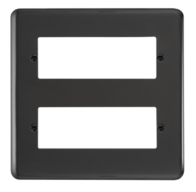 Click Deco Plus Black Nickel 12 MiniGrid Module Plate DPBN512