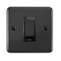Scolmore Click Deco Plus Black Nickel 1G 45A DP Ingot Cooker Switch DPBN500BK