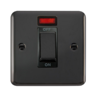 Scolmore Click Deco Plus Black Nickel 1G 45A DP Ingot Cooker Switch with Neon DPBN501BK