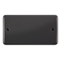 Scolmore Click Deco Plus Black Nickel 2 Gang Double Blank Plate DPBN061