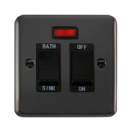 Scolmore Click Deco Plus Black Nickel 20A DP Sink/Bath Switch DPBN024BK