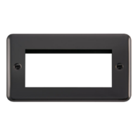 Scolmore Click Deco Plus Black Nickel 2G Quad Aperture New Media DPBN312