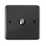 Scolmore Click Deco Plus Black Nickel Non-Isolated Single Satellite Socket  DPBN156