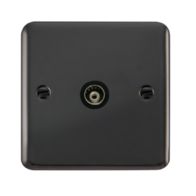 Scolmore Click Deco Plus Black Nickel Single Isolated Co-Axial Socket DPBN158BK