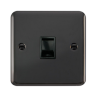 Scolmore Click Deco Plus Black Nickel Single RJ11 Telephone Socket DPBN115BK