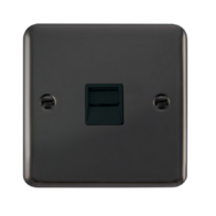 Scolmore Click Deco Plus Black Nickel Single Telephone Socket Secondary DPBN125BK