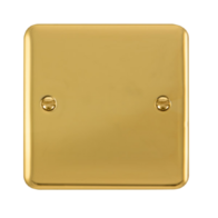 Scolmore Click Deco Plus Polished Brass 1 Gang Single Blank Plate DPBR060