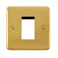 Scolmore Click Deco Plus Polished Brass 1G Single Aperture New Media DPBR310
