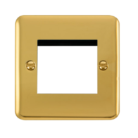 Scolmore Click Deco Plus Polished Brass 1G Twin Aperture New Media DPBR311
