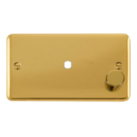 Scolmore Click Deco Plus Polished Brass Single Dimmer Plate 1000W DPBR185