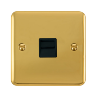 Scolmore Click Deco Plus Polished Brass Single Telephone Socket Master DPBR120