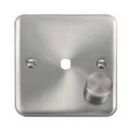 Scolmore Click Deco Plus Satin Chrome 1G Single Dimmer Plate & Knob DPSC140PL