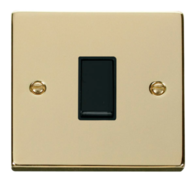 Scolmore Click Deco Polished Brass 10AX 1 Gang Intermediate Switch VPBR025