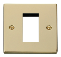 Scolmore Click Deco polished Brass 1G Euro Plate VPBR310