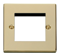 Scolmore Click Deco polished Brass 2G Euro Plate VPBR311