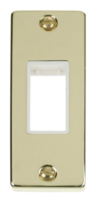 Scolmore Click Deco polished brass Architrave Switch Plate VPBR471WH