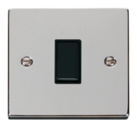 Scolmore Click Deco Polished Chrome 10AX 1 Gang Intermediate Switch VPCH025