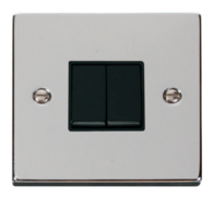Scolmore Click Deco Polished Chrome 2 Gang 2 Way Switch VPCH012