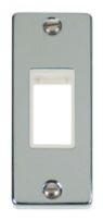 Scolmore Click Deco polished Chrome Architrave Switch Plate VPCH471WH