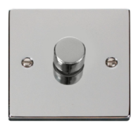 Scolmore Click Deco polished Chrome Dimmer 1 Gang 400W VPCH140