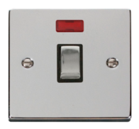 Scolmore Click Deco polished Chrome Ingot 20A DP Switch Neon VPCH723BK