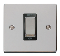 Scolmore Click Deco polished Chrome Ingot 45A DP Switch VPCH500BK