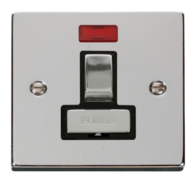 Scolmore Click Deco polished Chrome Ingot Switched Spur Neon VPCH752BK