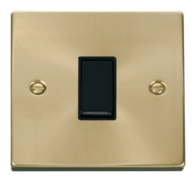 Scolmore Click Deco Satin Brass 1 Gang 2 Way Switch VPSB011