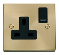 Scolmore Click Deco Satin Brass 13A 1G DP Switched Socket VPSB035