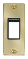 Scolmore Click Deco Satin Brass Architrave Switch Plate VPSB471