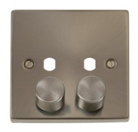 Scolmore Click Deco Satin Chrome 2 Gang Dimmer Plate Only VPSC152PL