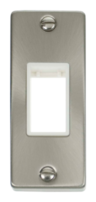 Scolmore Click Deco Satin Chrome Architrave Switch Plate VPSC471