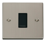 Scolmore Click Deco Stainless Steel 1 Gang 2 Way Switch VPSS011