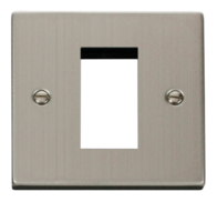 Scolmore Click Deco Stainless Steel 1G Euro Plate VPSS310
