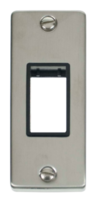 Scolmore Click Deco Stainless Steel Architrave Switch Plate VPSS471