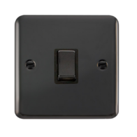 Scolmore Deco Plus Black Nickel 20A 1 Gang Ingot Double Pole Switch DPBN722BK
