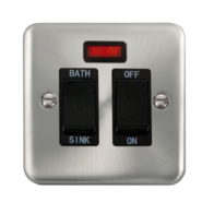 Scolmore Click Deco Plus Satin Chrome 20A DP Sink/Bath Switch DPSC024