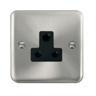 Scolmore Click Deco Plus Satin Chrome 1G 5A Round Pin Socket Outlet DPSC038