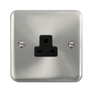 Scolmore Click Deco Plus Satin Chrome 1G 2A Round Pin Socket Outlet DPSC039