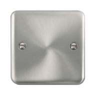 Scolmore Click Deco Plus Satin Chrome 1 Gang Single Blank Plate DPSC060