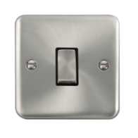 Scolmore Click Deco Plus Satin Chrome 10AX Ingot 1 Gang 2 Way Plate Switch DPSC411