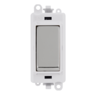 Scolmore Grid Pro 20AX 2 Way Retractive Switch Module - White - Polished Chrome - GM2004PWCH