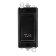 Scolmore Grid Pro Black 20A DP Switch Water Heater Appliance Module GM2018BK-WH