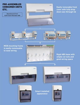Chint PVC Shower Consumer Unit 1 x 63a RCD 1 x 40a MCB A29800