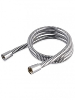 Shower Hose 1.25m 11mm Cone x Cone Chrome Effect PVC HAG