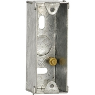 Single Architrave Metal Back Boxes 25mm SBA251A