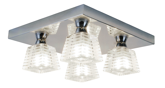 Spa Aqulia Square Flush Chrome Bathroom Ceiling Light Spa Pr 16098 Rs Electrical Supplies