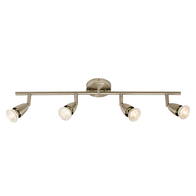 Spotlight 4 x 50w Amalfi Bar Satin Nickel 60995