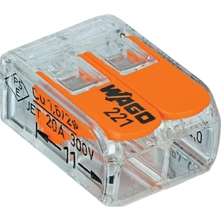Wago 221 Series 2 Pole 32A Push-Wire Connector 221-412 Pk of 100