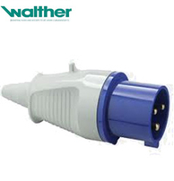Walther 210306 Plug 16A 2P & Earth 240v